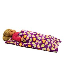 """18"""" Doll Bedding Super Soft Sleepover Party Sleeping Bag Accessory"""