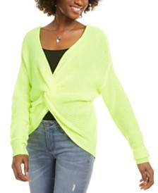 Polly & Esther Juniors' Twist-Front Sweater
