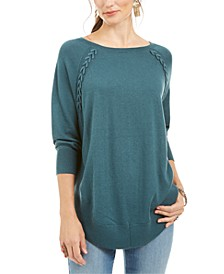 Lace-Up Chevron-Trim Sweater, Created for Macy's