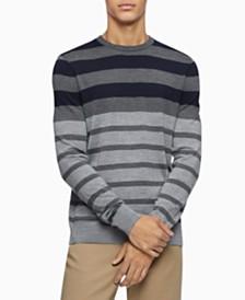 Calvin Klein Men's Colorblock Striped Sweater