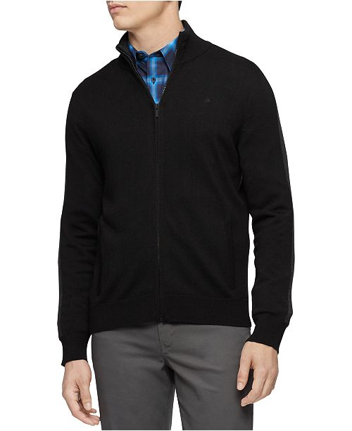 Calvin Klein Calvin Klein Men's Merino Full-Zip Sweater