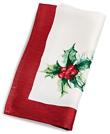 CLOSEOUT! Christmas Sprig Red Napkins, Set of 4