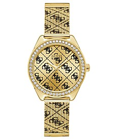 Men's Gold-Tone Stainless Steel Mesh Bracelet Watch 36.5mm