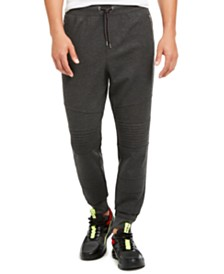 I.N.C. Men's Knit Moto Jogger Pants, Created for Macy's