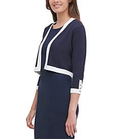 Contrast-Stripe Cardigan