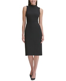 Tommy Hilfiger Snap-Shoulder Sheath Dress