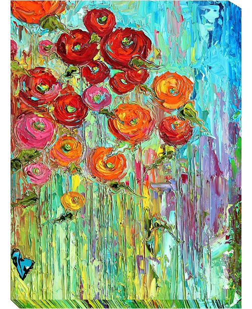 """West of the Wind Poppies 6 Outdoor Canvas Wall Art, 30"""" x 40"""""""