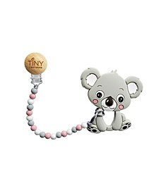3 Stories Trading Tiny Teethers Infant Silicone Pacifier Clip With Large Removable Teether, Koala