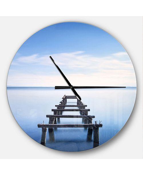 Design Art Designart Oversized Lake House Round Metal Wall Clock