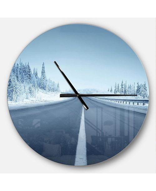 Design Art Designart Oversized Landscapes Round Metal Wall Clock