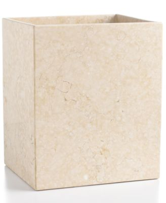 CLOSEOUT Hotel Collection Marble Trash Can Bathroom Accessories