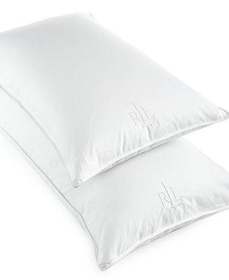 Lauren Ralph Lauren White Goose Down King Pillow 500