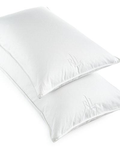 Lauren Ralph Lauren White Goose Down Pillows 500 Thread