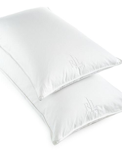 Lauren Ralph Lauren White Goose Down King Pillow, 500 Thread Count