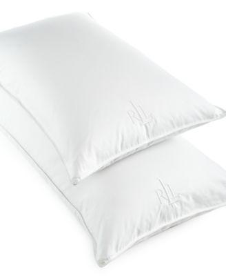 lauren ralph lauren white goose down pillows 500 thread count cotton