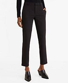 Straight Cotton-Blend Pants