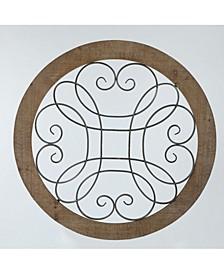 Metal Circular Scroll Wall Decor