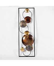 2 piece Abstract Metal Wall Panels