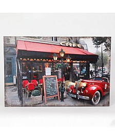 Luxen Home Fresco Cafe and Car Print with LED Lights