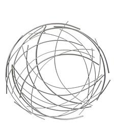 Abstract Iron Sticks Round Wall Decor