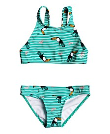 Roxy Little Girl Birds Crop Top Two Piece Set