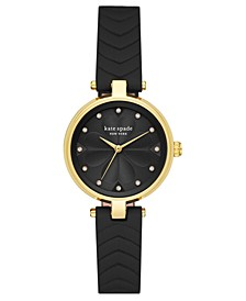 Women's Annadale Black Leather Strap Watch 30mm