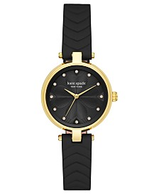 Kate Spade New York Women's Annadale Black Leather Strap Watch 30mm