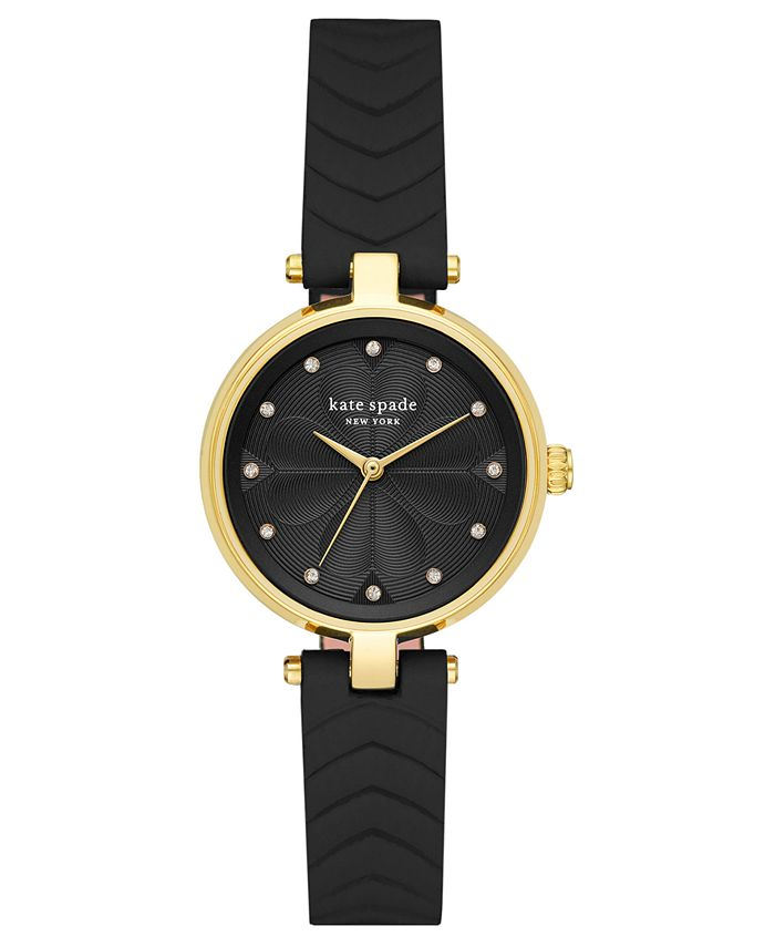 kate spade new york - Women's Annadale Black Leather Strap Watch 30mm