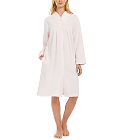 Brushed Back Terry Short Snap Robe