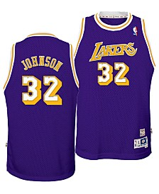 adidas Big Boys Magic Johnson Los Angeles Lakers Retired Player Swingman Jersey