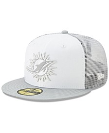 Miami Dolphins White Cloud Meshback 59FIFTY Cap