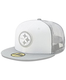 Pittsburgh Steelers White Cloud Meshback 59FIFTY Cap