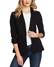 3/4-Sleeve Bow-Detail Blazer