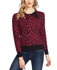 CeCe Printed Leopard Sweater