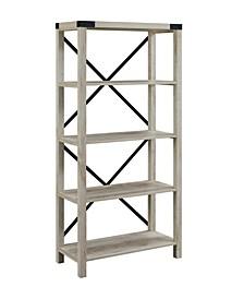 Farmhouse Metal X Bookcase