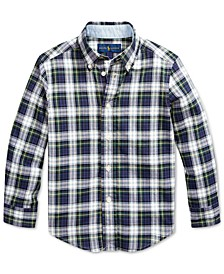 Toddler Boys Madras Plaid Shirt