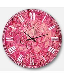 Digital Art Oversized Round Metal Wall Clock