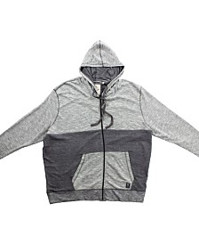 PX Clothing Big and Tall Textured Zip Up French Terry Hoodie