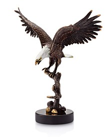 Home Eagle on Branch Sculpture
