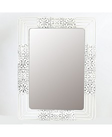 Ornate Iron Framed Wall Mirror