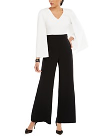 28th & Park Colorblocked Cape Jumpsuit, Created for Macy's