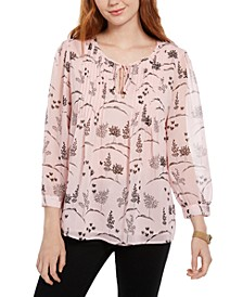 Long-Sleeve Bayview-Dot Pintuck Top, Created for Macy's