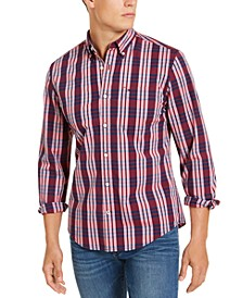 Men's Custom-Fit Stretch Nash Plaid Shirt