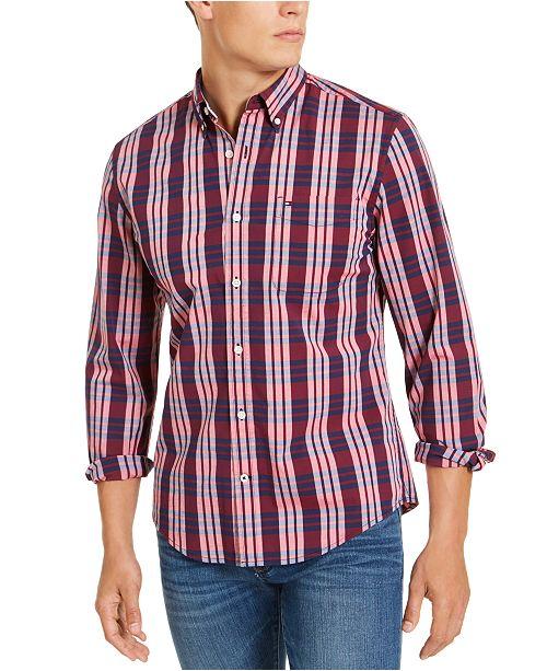 Tommy Hilfiger Men's Custom-Fit Stretch Nash Plaid Shirt