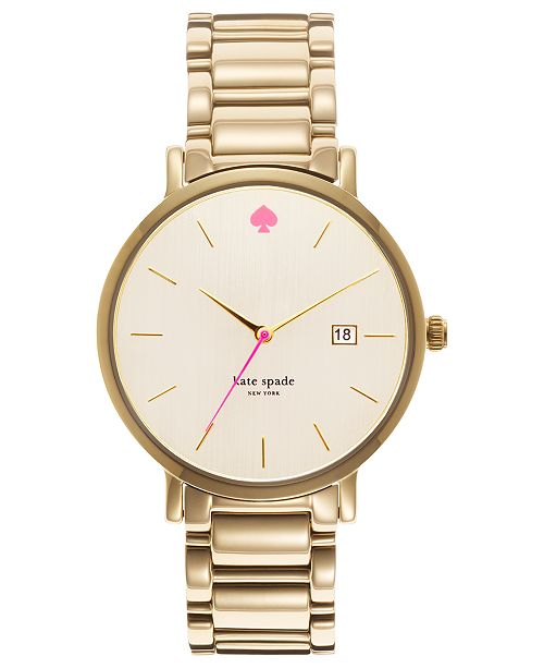 Kate Spade New York Watch Women S Gramercy Grand Gold Tone Stainless Steel Bracelet 38mm 1yru0009 11 Reviews Main Image