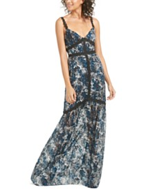 Rachel Zoe Ombretta Animal-Print & Lace Gown