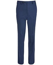 Lauren Ralph Lauren Big Boys Classic-Fit Stretch Bright Navy Blue Windowpane Check Suit Pants