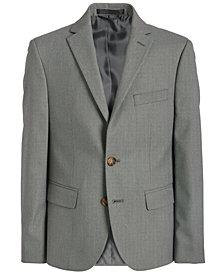 Lauren Ralph Lauren Big Boys Classic-Fit Stretch Black/White Birdseye Suit Jacket