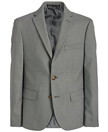 Lauren Ralph Lauren Big Boys Classic-Fit Stretch Black/White Birdseye Suit Jacket