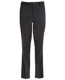 Big Boys Classic-Fit Stretch Black Stripe Suit Pants